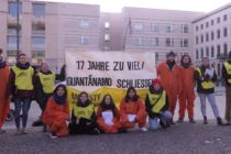 Picture of the Group protesting Guantanamo Bay